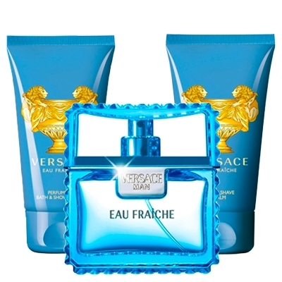 Set Versace Man Eau Fraiche 50ml + Gel 50ml + After Shave 50ml