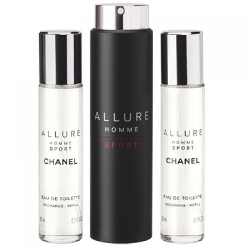 Set Allure Homme Sport 3x 20ml - Recargable