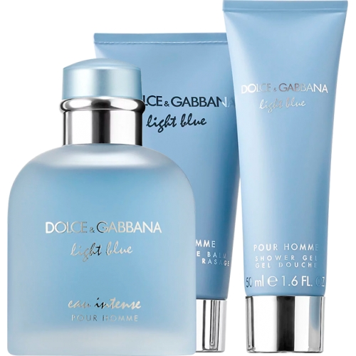 Set Light Blue Eau Intense Pour Homme 100ml + Gel 50ml + After shave 75ml