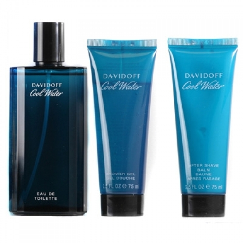 Set Cool Water 125ml + Shower Gel 75ml + Aftershave 75ml