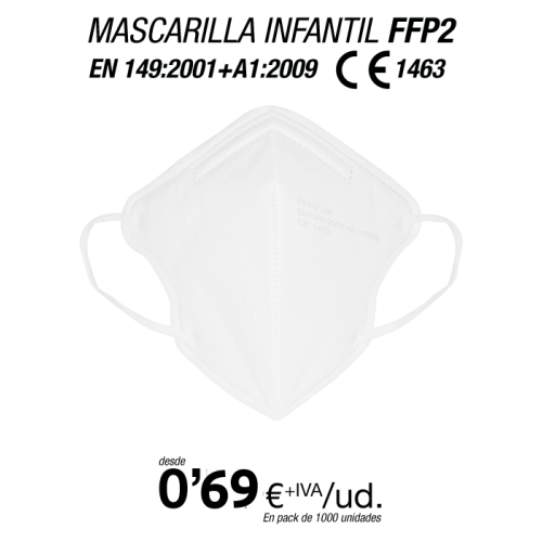 Mascarillas para Niños/as FFP2 Blancas